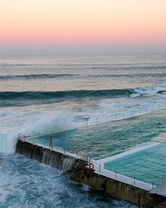 The historical Bondi Baths in Sydney Australia offer a swimming experience like no other. Swim in the famous Iceberg Pool as beautiful ocean waves crash over you. #PhotosNotPasswords