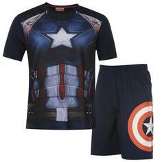 Mens Captain America Pyjamas