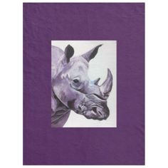 Large fleece blanket with Rhino image - image gifts your image here cyo personalize