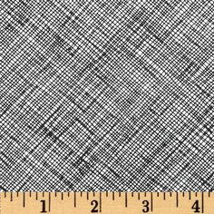 Architextures Grid Plaid Black from @fabricdotcom  Designed by Carolyn Friedlander for Robert Kaufman, this cotton print is perfect for quilting, apparel and home decor accents.  Colors include white and black.