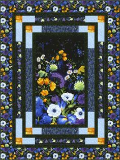 Timeless Treasures Reverie Bevels Quilt Kit for sale online Quilting Projects, Quilting Designs, Fabric Panel Quilts, Fabric Panels, Attic Window Quilts, Sunflower Quilts, Modern Quilt Blocks, Scrap Quilt Patterns, Japanese Quilts