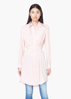 Camisa larga fluida - Camisas de Mujer | MANGO