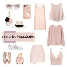 """""""Cream capsule Wardrobe"""" by venus4thought ❤ liked on Polyvore featuring MANGO, Chicwish, River Island, Rebecca Minkoff, Jimmy Choo, GUESS, rag & bone, Tory Burch and adidas Originals"""