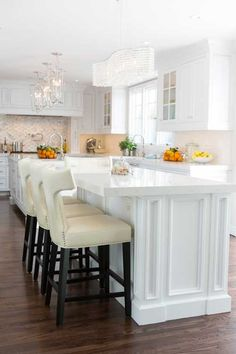 Design-build firm specializing in finish carpentry and custom cabinets; Kitchen Reno, New Kitchen, Kitchen Remodel, Kitchen Cabinets, Kitchen Ideas, Kitchen Island, Maria Menounos, Beach House Kitchens, Home Kitchens