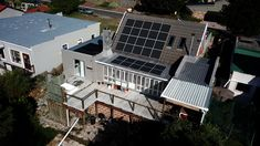 PERC Mono solar panels installed in Cape Town, South Africa. Solar Power System, Cape Town, Solar Panels, South Africa, Mansions, House Styles, Outdoor Decor, Home, Sun Panels