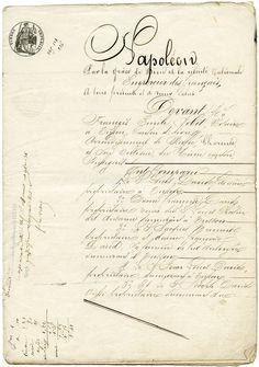 Old Design Shop ~ free digital image: French Legal Sale Document 1860 vintage aged ephemera