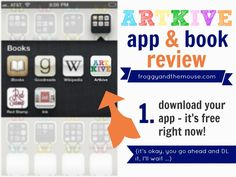 ARTKIVE App Review - Take pictures of your child's artwork and store them with dates and descriptions. Then upload your art to the ArtKive system and have professional quality photobooks printed!