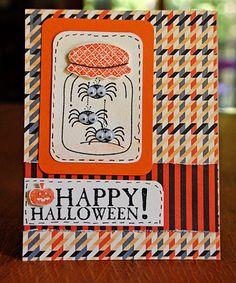 Spider Jar Halloween Card