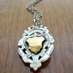 Crown & Crest Necklace Two-Tone by Jessie Lazar