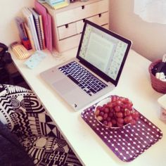 The GRAPES are literally the most attractive thing in this picture. This is how distracted I can get