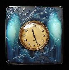 THE SPLENDORS OF LALIQUE ART.  Clocks