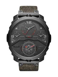 Diesel DZ7358 Machinus 4 Time Zones Black Wrist Men's Watch