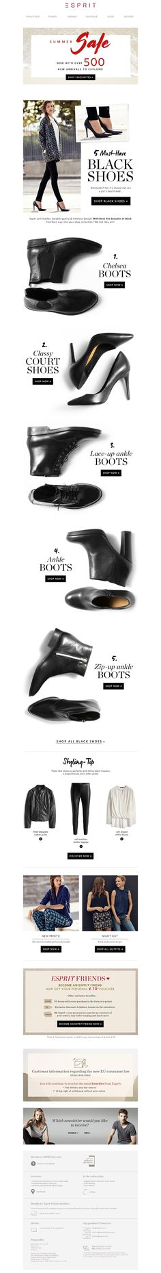 ESPRIT sale #emailmkt #fashion #shoes