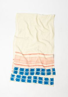 Travel picks in honor of Etsy's 10th anniversary! Hand blocked scarf with blue arrows.