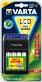 #Curadellapersona #6: Varta 57677101441 LCD Plug Confezione Carica Batterie con 4 Batterie AA, Nero/Antracite