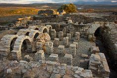 Ruinas romanas en la ciudad ibero-romana de Cástulo en Linares (Jaén), Spain
