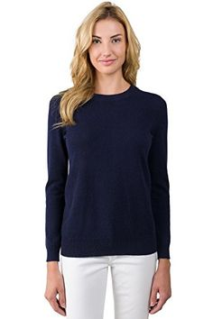 La Redoute Women's Cashmere Long Sleeve Round Neck Sweater - http ...