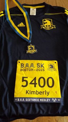 BAA 5K 2015.  First race in the distance Medley