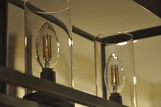 Spice up your chandelier with light bulbs that show their filament. These LED bulbs save you energy and money while still giving you the look and feel your desire. Led Candelabra Bulbs, Led Candles, Lightbulbs, Vintage Chandelier, Interior Lighting, Spice Things Up, Vintage Designs, Light Colors, Sconces