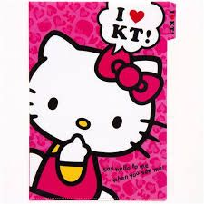 42b7f8fd2 Image result for i love hello kitty Pink Hello Kitty, Japanese Stationery, File  Folder