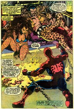 Tigra & Kraven the Hunter torment Spider-Man by John Byrnes for Marvel Team-Up.