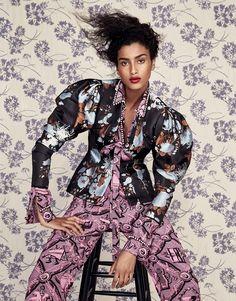 Looks Inspiradores em Estampas Florais Deliciosas brilham nas Pginas da Vogue China março 2017  Fragmentos de Moda