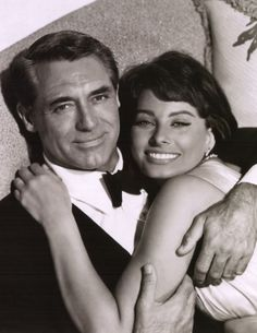 Sophia Loren + Cary Grant. He was so in love with her but she married someone else :(