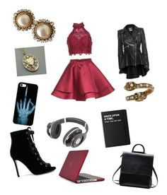 """""""A Friends Birthday Party"""" by lovely5402 on Polyvore featuring Alyce Paris, Gianvito Rossi, Speck, Killstar, Beats by Dr. Dre, Alexander McQueen and Chanel"""