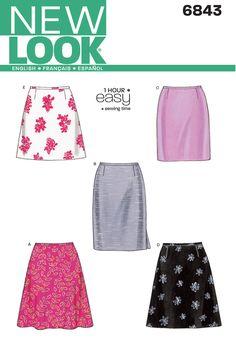 New Look - NL6843 Misses Skirt | Easy - WeaverDee.com Sewing & Crafts - 1