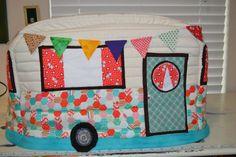 Vintage Caravan Sewing Machine Cover in Turquoise and by BaaStreet