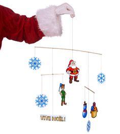 1000 images about no l brico et autres on pinterest noel christmas craf - Mobile de noel a fabriquer ...