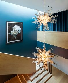Interior Stairs, Chandelier, Ceiling Lights, Interior Design, Lighting, Places, Home Decor, Nest Design, Homemade Home Decor