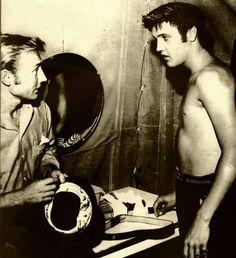 Actor Nick Adams and Elvis Presley