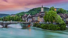 Laufenburg im Abend Licht by Martin Schnetzler on Black Forest, Places To Visit, Germany, Mansions, House Styles, Green, Swiss Guard, Luxury Houses, Deutsch