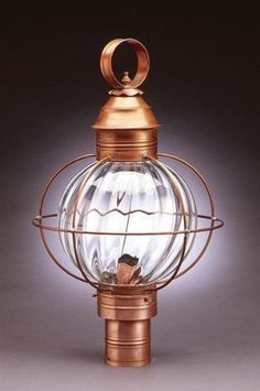 Caged Round Post Raw Brass 3 Candelabra Sockets Optic Glass by Northeast Lantern. $559.50