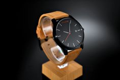 Love the contrast on this one. These watches are super light and very comfortable. The leather band is super very comfortable. $10 off promo code: CACD
