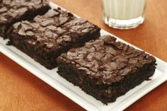 Tofu Brownies. Extra protein, no butter.