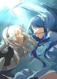 Fire Emblem: If/Fates - Aqua and Kamui