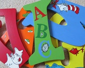 Found these in Capital Letters, now to paint and embellish with Dr Seuss stickers to complete my buddy's room