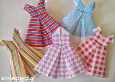 Φορέματα φτιαγμένα από χαρτί-origami ~ Είμαι παιδί