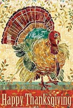 Breeze Art Thanksgiving Turkey Garden Flag #31232 Breeze Art