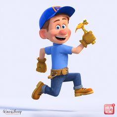 Disney Pixar, Disney And Dreamworks, Disney Magic, Walt Disney, Disney Characters, Sugar Rush, 3d Character, Character Design, Fix It Felix Jr