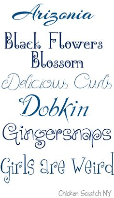 Fonts on the First: Fun and Swirly Fonts