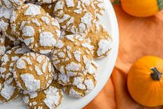 Soft and sweet, with plenty of pumpkin flavor and pumpkin pie spice, these easy to make cookies are the perfect fall bite!