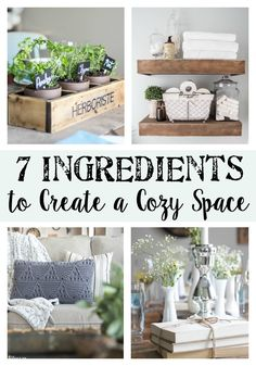 7 Ingredients to Create a Cozy Space | www.blesserhouse.com