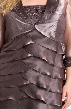 Alex Evenings Tiered Taffeta Dress & Jacket (Plus) | Nordstrom