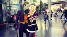 Joker and Harley Quinn cosplay on Pyrkon (Poland)