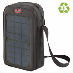 Stash and charge your smartphone, Kindle and camera along with the day's essentials in this lightweight solar travel bag. The included battery means you can charge up anytime, anywhere.