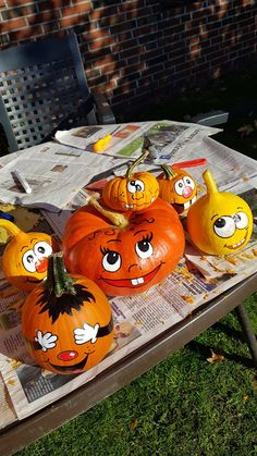Halloween, Pumpkin Carving, Diy, Painted Pumpkins, Painted Faces, Lawn And Garden, Bricolage, Pumpkin Carvings, Do It Yourself