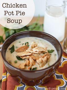 Chicken Pot Pie Soup, the secret ingredient makes it a snap to prepare.